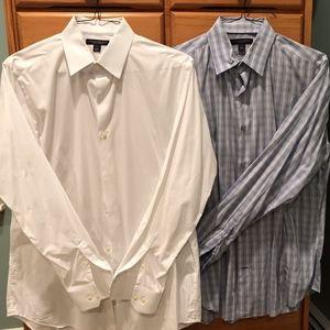 Banana Republic Slim-Fit Shirt Duo 16-16 1/2 (L)